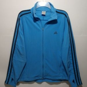 Adidas fleece sweatshirt XL zip athletic jacket bl